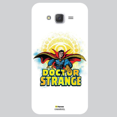 Doctor Strange Illustration White Samsung Galaxy J7 Case Cover