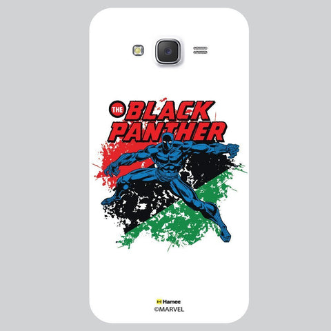 Black Panther Colour Splash White Samsung Galaxy J7 Case Cover