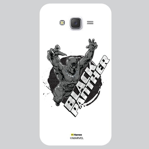 3D Black Panther White Samsung Galaxy J7 Case Cover