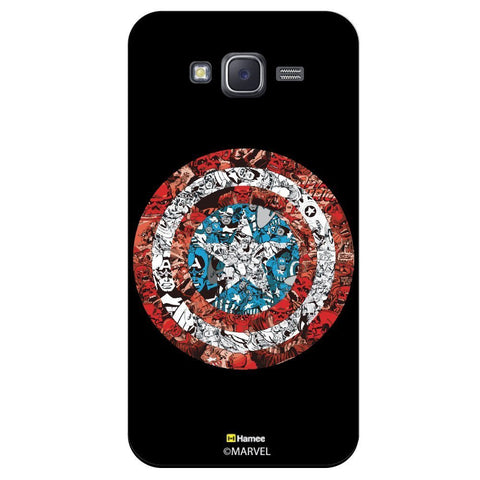 Captain America Shield Collage Illustartion Black  Xiaomi Redmi 2 Case Cover
