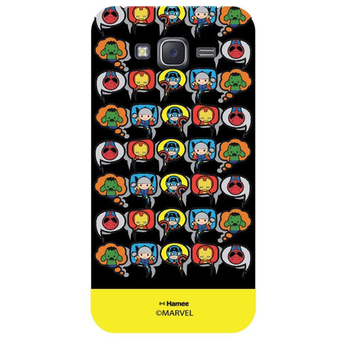 Yellow Strip Cute Tessellation Design Black  Samsung Galaxy On5 Case Cover