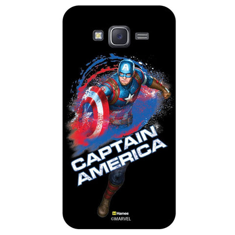 Captain America Water Splash Black  Samsung Galaxy On7 Case Cover