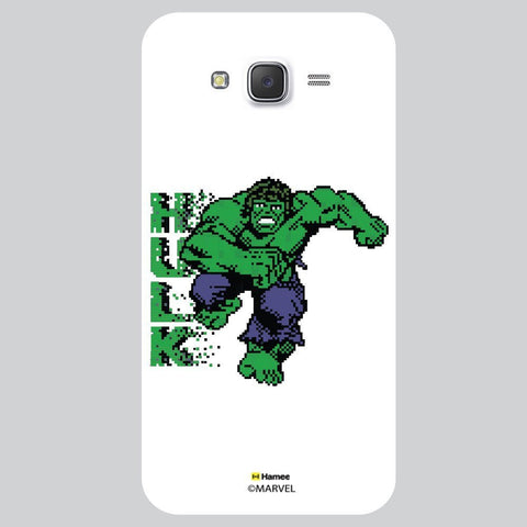 Hulk Green Pixelated White Samsung Galaxy J7 Case Cover