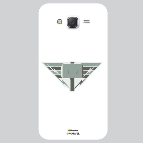 Thor Triangle Hammer Illustration White Samsung Galaxy On7 Case Cover