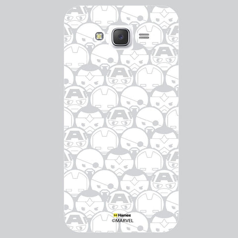 Cute Grey Tesselation Design White Samsung Galaxy J7 Case Cover