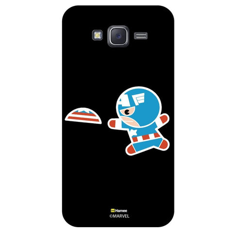 Cute Captain America Playing With Flying Disc Black  Samsung Galaxy On7 Case Cover
