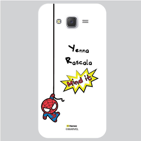 Cute Spider Man Mind It Black White Samsung Galaxy J7 Case Cover