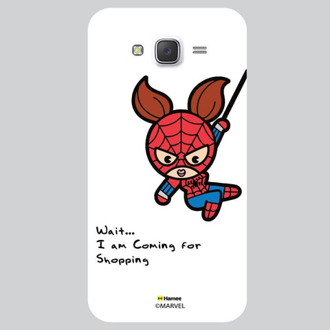 Cute Spider Woman Going For Shopping White Samsung Galaxy J7 Case Cover