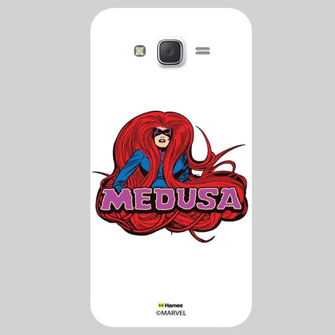 Marvel Medusa Illustration Black White Samsung Galaxy J7 Case Cover