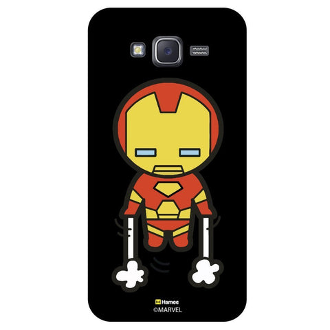 Cute Iron Man Launching Black  Samsung Galaxy J5 Case Cover
