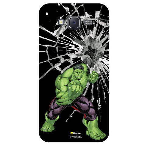 Hulk Broken Glass Illustration Black  Samsung Galaxy J7 Case Cover