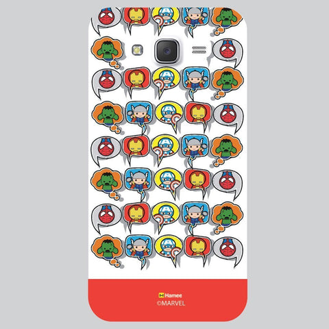 Red Strip Cute Tessellation Design White Samsung Galaxy On7 Case Cover
