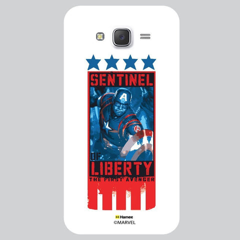 Captain America Five Stars Black White Samsung Galaxy J7 Case Cover