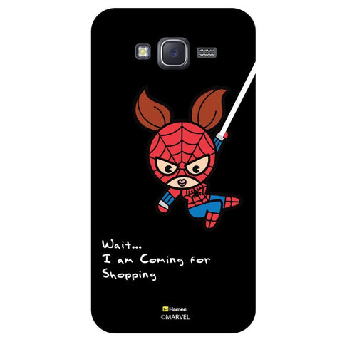 Cute Spider Woman Going For Shopping Black  Samsung Galaxy J5 Case Cover