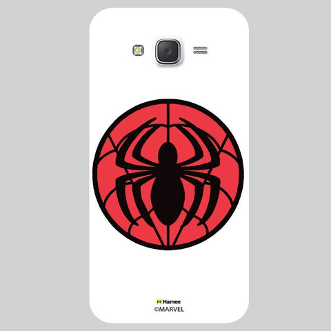 Spider Flat Design White Samsung Galaxy J7 Case Cover
