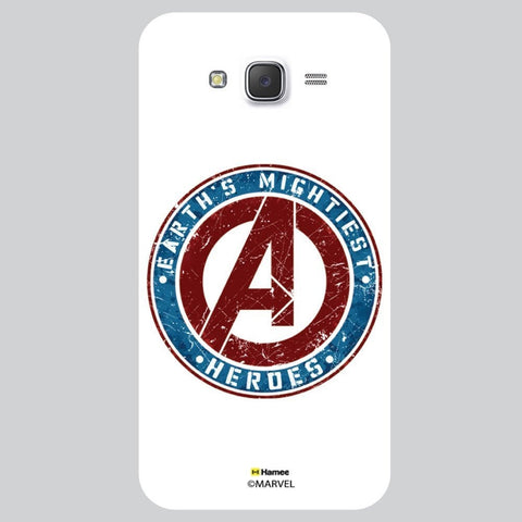 Avenger Logo White Samsung Galaxy J7 Case Cover