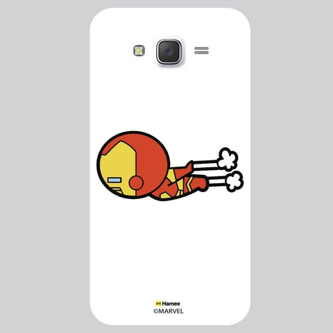 Cute Iron Man Moving White Samsung Galaxy On7 Case Cover