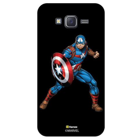 Captain America Action Blackblack  Samsung Galaxy J7 Case Cover