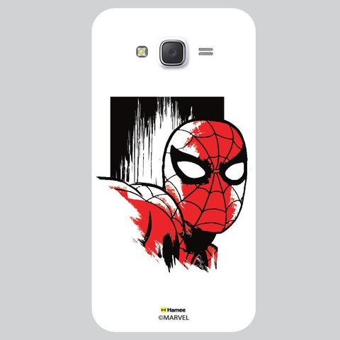 Spider Man Face Design White Samsung Galaxy J7 Case Cover
