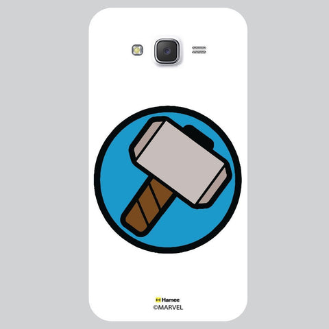 Thor Hammer Flat Design White Samsung Galaxy J7 Case Cover