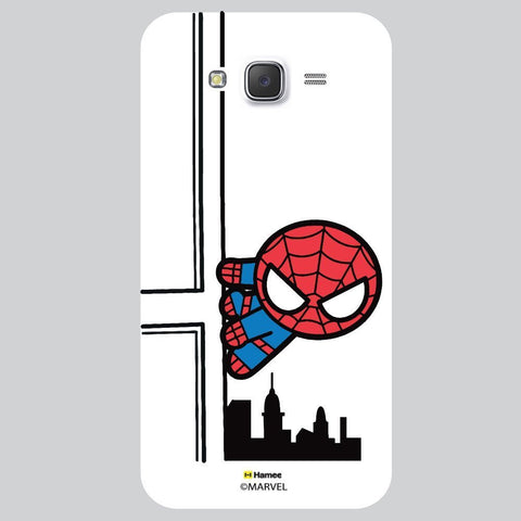 Cute Spider Man Watching You White Samsung Galaxy J7 Case Cover