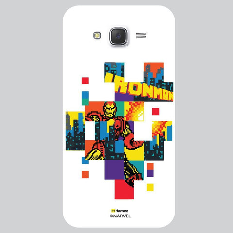 Iron Man Colourful Pixels Black White Samsung Galaxy J7 Case Cover