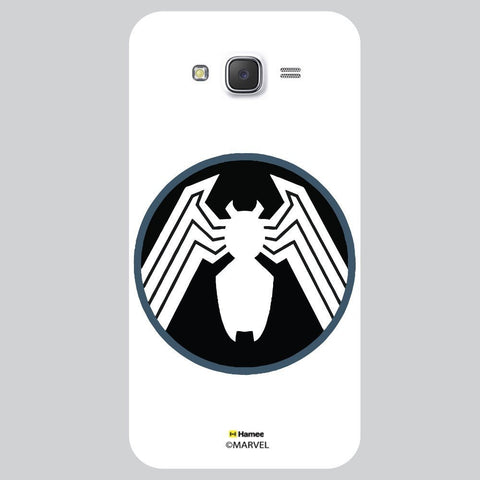 Spider Logo In Black And Circle White Samsung Galaxy J7 Case Cover