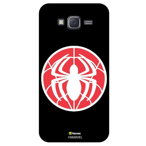 Spider Flat Design Black  Samsung Galaxy J7 Case Cover