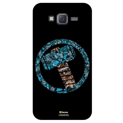 Thor Hammer Collage Black  Samsung Galaxy J7 Case Cover