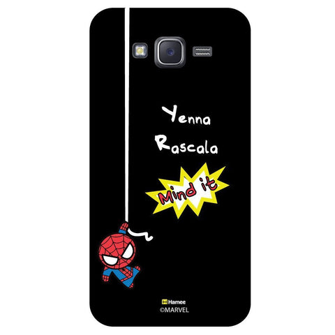 Cute Spider Man Mind It Black  Samsung Galaxy J7 Case Cover