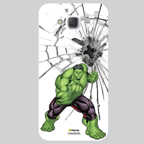 Hulk Broken Glass Illustration White Samsung Galaxy J7 Case Cover