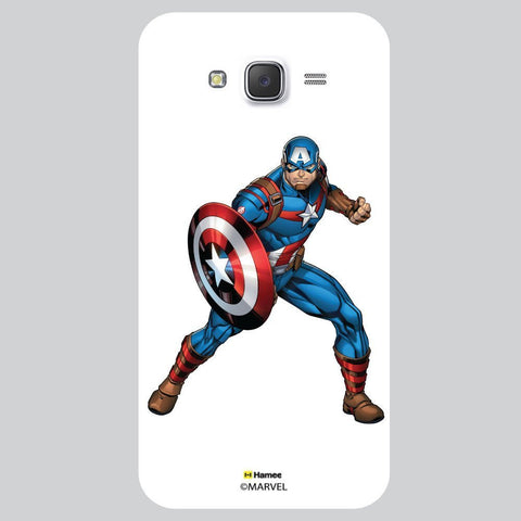 Captain America Action White Samsung Galaxy J7 Case Cover