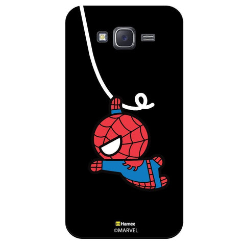 Cute Spiderman Moving Black  Samsung Galaxy J7 Case Cover
