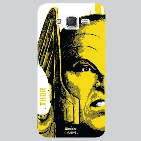 Thor Full Face Black White Samsung Galaxy J7 Case Cover