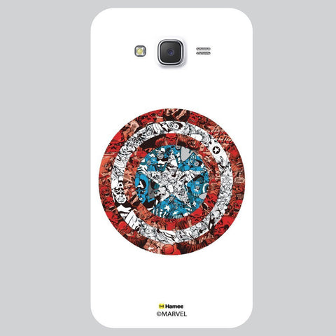 Captain America Shield Collage Illustartion White Xiaomi Redmi 2 Case Cover
