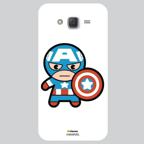 Cute Captain America Look White Samsung Galaxy On7 Case Cover