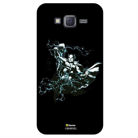 Thor Hammer Lightning Blackblack  Samsung Galaxy J7 Case Cover