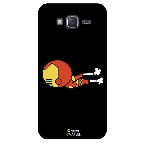 Cute Iron Man Moving Black  Samsung Galaxy On7 Case Cover