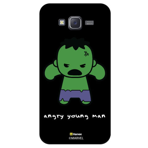 Cute Hulk Angry Young Man Black  Samsung Galaxy J7 Case Cover