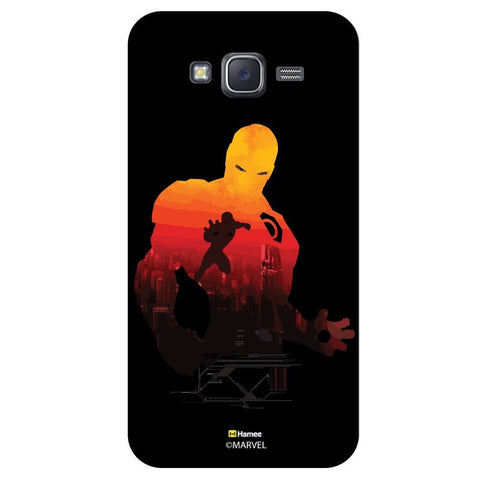 Iron Man Sunset Silhouette Illustration On Blackblack  Samsung Galaxy J7 Case Cover