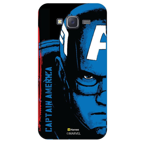 Captain America Full Face Black  Samsung Galaxy J7 Case Cover