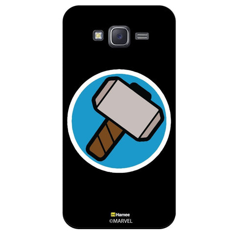 Thor Hammer Flat Design Black  Samsung Galaxy J7 Case Cover