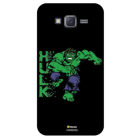 Hulk Green Pixelated Blackblack  Samsung Galaxy J7 Case Cover