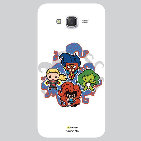 Cute Four Powerful Womens White Samsung Galaxy On7 Case Cover