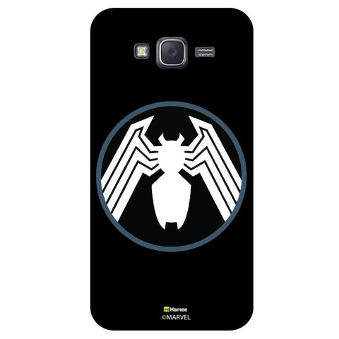 Spider Logo In Black And Circle Black White Samsung Galaxy J5 Case Cover