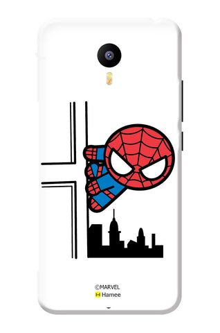 Cute Spiderman On The Wall  Meizu Note 3 Case Cover