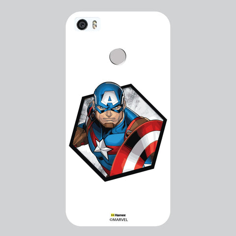 3D Captain America Hexagon White Coolpad Max Case Cover