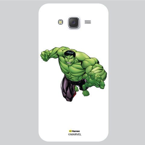Hulk Pose White Samsung Galaxy J5 Case Cover