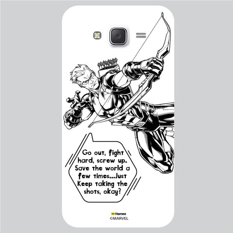 Hawkeye Quote White Samsung Galaxy J5 Case Cover