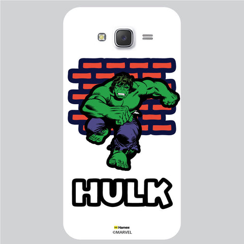 Hulk Brick Wall1 White Samsung Galaxy J5 Case Cover